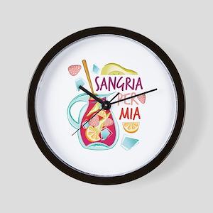 Sangria Per Mia Wall Clock