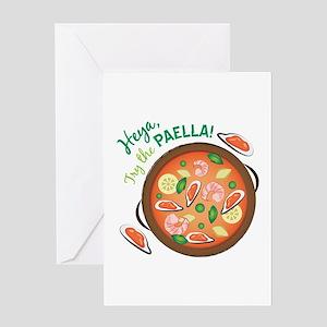 Heya Paella Greeting Cards