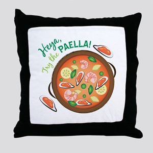 Heya Paella Throw Pillow