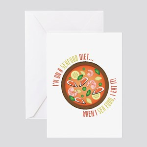 Seafood Diet Greeting Cards