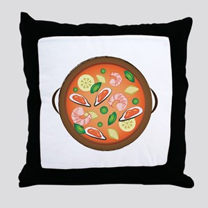 Seafood Paella Throw Pillow
