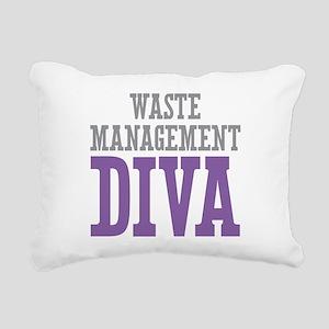 Waste Management DIVA Rectangular Canvas Pillow