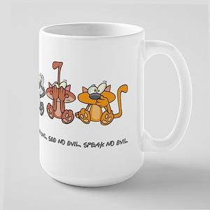 HEAR NO EVIL... Large Mug
