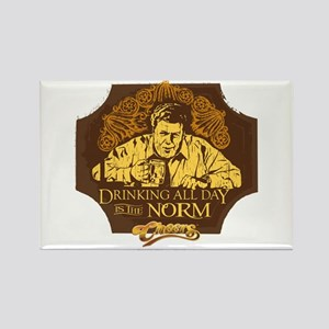 Cheers: Norm Drinking Rectangle Magnet