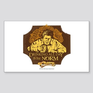 Cheers: Norm Drinking Sticker (Rectangle)