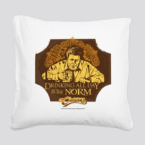 Cheers: Norm Drinking Square Canvas Pillow