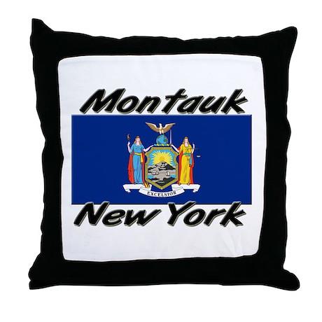 Montauk New York Throw Pillow