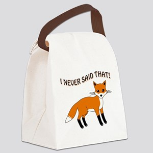 I NEVER SAID THAT! Canvas Lunch Bag