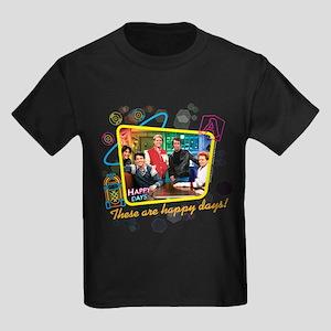 These are Happy Days Kids Dark T-Shirt