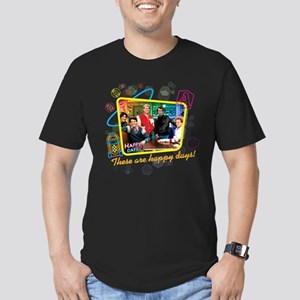 These are Happy Days Men's Fitted T-Shirt (dark)