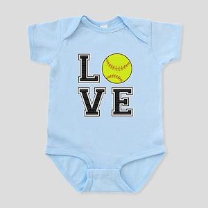Love Softball Infant Bodysuit