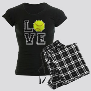 Love Softball Women's Dark Pajamas