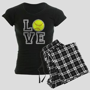 Love Softball Women's Dark Pajamas