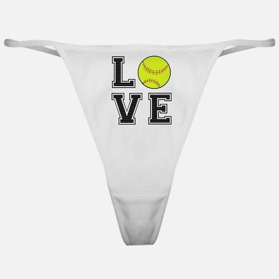 Love Softball Classic Thong