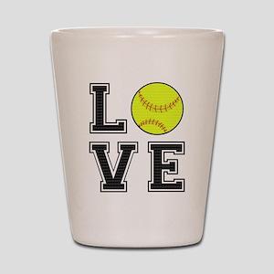 Love Softball Shot Glass