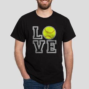 Love Softball Dark T-Shirt