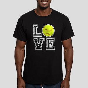 Love Softball Men's Fitted T-Shirt (dark)