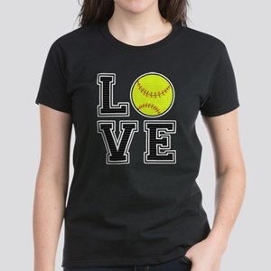 Love Softball Women's Dark T-Shirt