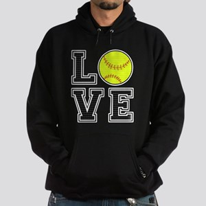Love Softball Hoodie (dark)