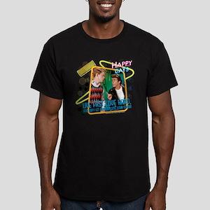 Happy Days: Love Fast Men's Fitted T-Shirt (dark)