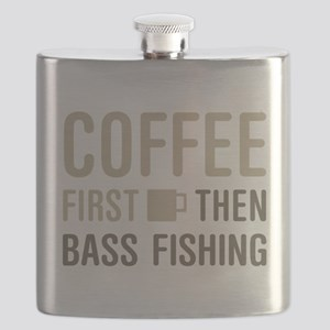 Coffee Then Bass Fishing Flask