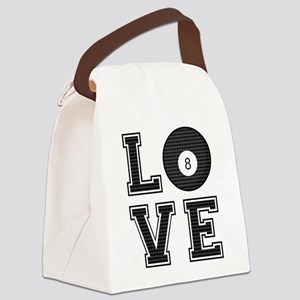 Love Pool / Billiards Canvas Lunch Bag