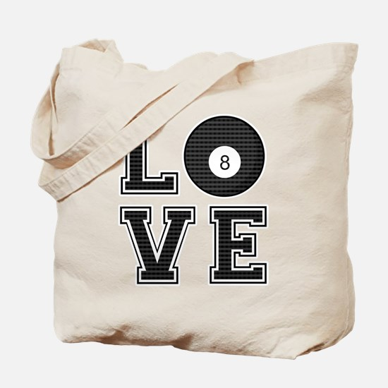 Love Pool / Billiards Tote Bag