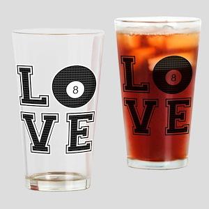 Love Pool / Billiards Drinking Glass