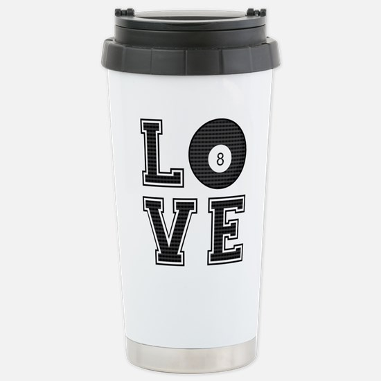 Love Pool / Billiards Stainless Steel Travel Mug