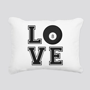 Love Pool / Billiards Rectangular Canvas Pillow