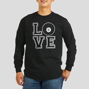 Love Pool / Billiards Long Sleeve Dark T-Shirt