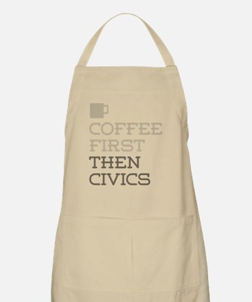 Coffee Then Civics Apron