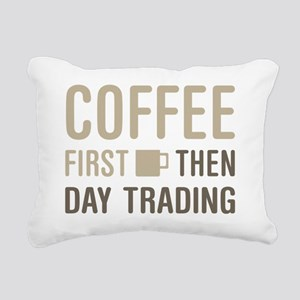 Coffee Then Day Trading Rectangular Canvas Pillow