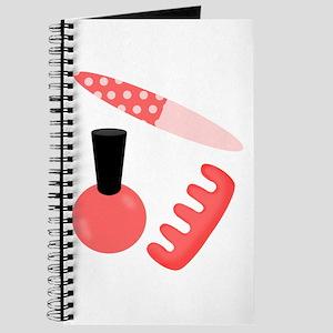 Pink Black Nail Polish Journal