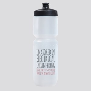 Electrical Engineer Major Sports Bottle