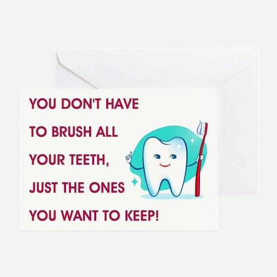 BRUSH YOUR TEETH Greeting Card