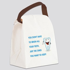 BRUSH YOUR TEETH Canvas Lunch Bag