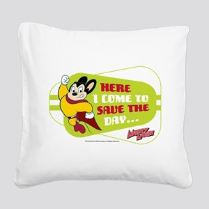 Mighty Mouse: Save The Day Square Canvas Pillow