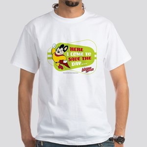 Mighty Mouse: Save The Day White T-Shirt