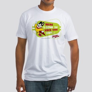 Mighty Mouse: Save The Day Fitted T-Shirt