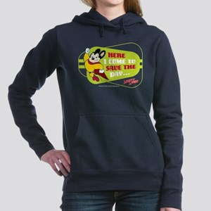 Mighty Mouse: Save The D Women's Hooded Sweatshirt
