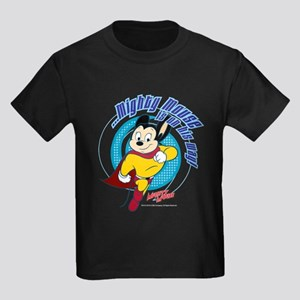 Mighty Mouse Is On His Way Kids Dark T-Shirt