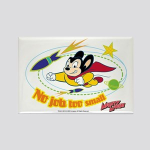 Mighty Mouse: No Job Too Small Rectangle Magnet