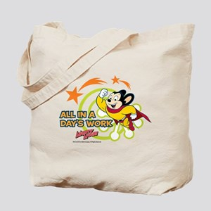 Mighty Mouse: All In A Days Work Tote Bag