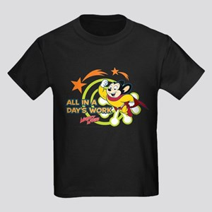 Mighty Mouse: All In A Days Work Kids Dark T-Shirt