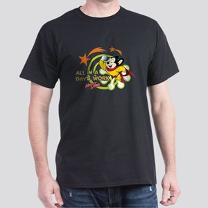 Mighty Mouse: All In A Days Work Dark T-Shirt