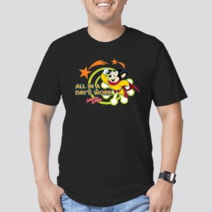Mighty Mouse: All In A Men's Fitted T-Shirt (dark)