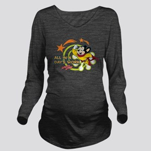 Mighty Mouse: All In Long Sleeve Maternity T-Shirt