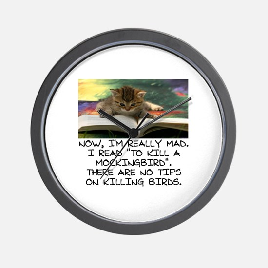 CAT - TO KILL A MOCKINGBIRD Wall Clock