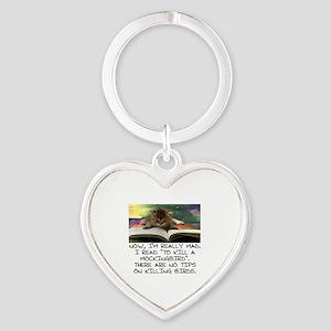 CAT - TO KILL A MOCKINGBIRD Heart Keychain